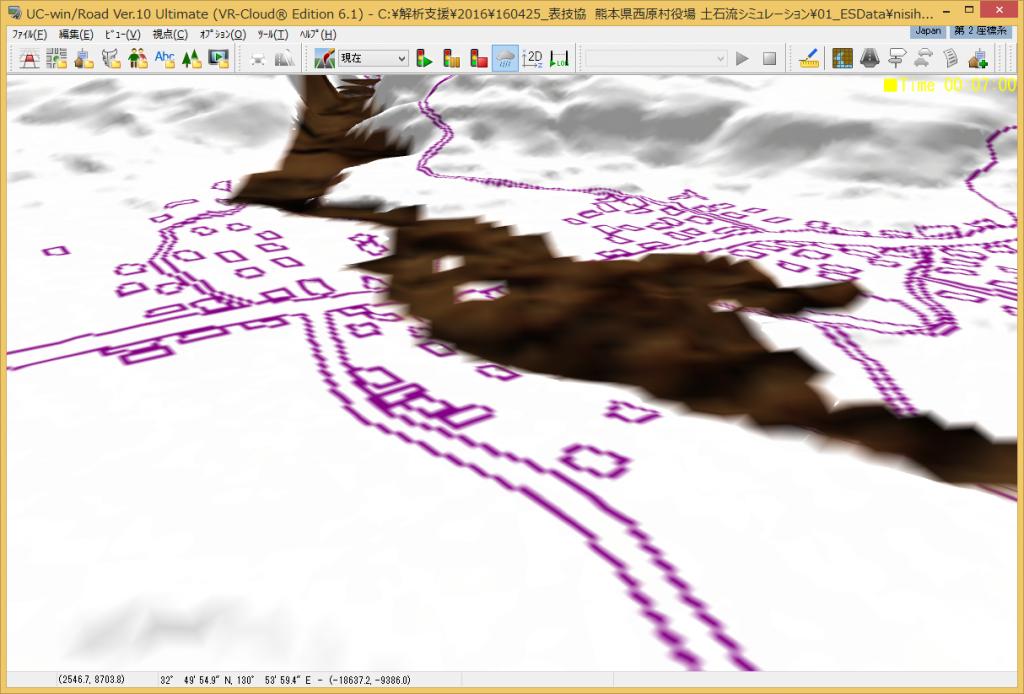 Fig.15  UC-win/Road上での3D堆積図